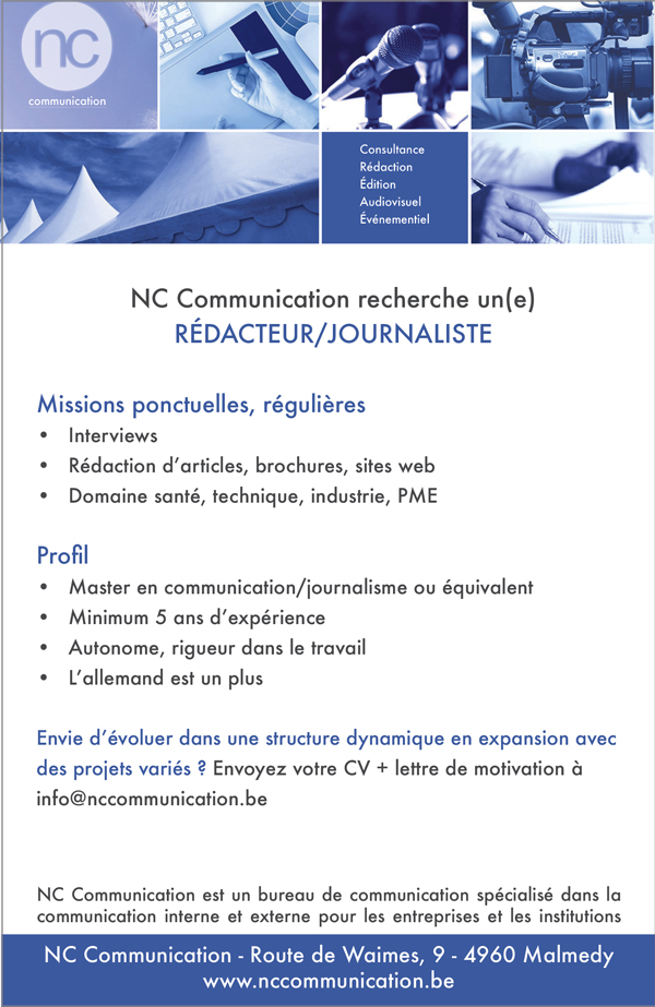 recrutement journaliste NCCommunication 2